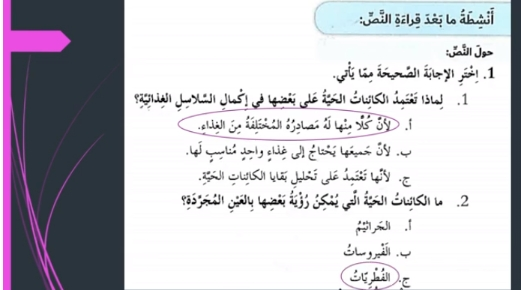 حل درس أصدقاء وأعداء لا نراهم لغة عربية للصف السادس الفصل الثالث