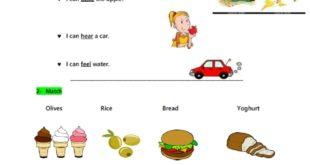 ورقة عمل توصيل لغة انجليزية للصف الاول الفصل الاول