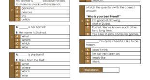 أوراق عمل (Pop Quiz -Unit 7) لغة انجليزية للصف السادس الفصل الثاني