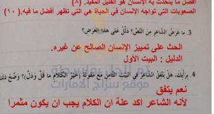 حل درس خير الكلام لغة عربية للصف السادس الفصل الثاني