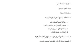 أوراق عمل (مصباح وبندق وتل الدببة الأخضر السعيد) لغة عربية للصف الثالث الفصل الثاني