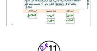 حل درس الطين في اللغة العربية للصف الحادي عشر الفصل الثاني