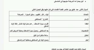 ورقة عمل قلب امي لغة عربية للصف السابع الفصل الثاني
