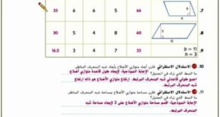 حل درس مساحة شبه المنحرف من دليل المعلم رياضيات للصف السادس الفصل الثالث