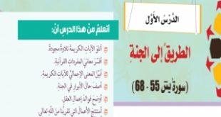 حل درس الطريق إلى الجنة تربية إسلامية الصف الثامن فصل ثالث