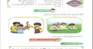 حل درس الرفق تربية اسلامية الصف الرابع الفصل الثالث