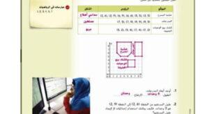 حل درس المضلع على المستوى الإحداثي رياضيات الصف السادس الفصل الثالث