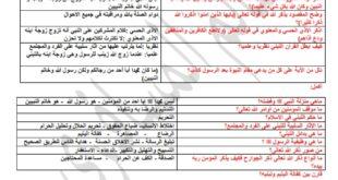 ملخص تربية اسلامية للصف الحادي عشر الفصل الثالث